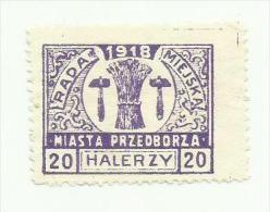 Pologne MIASTA PRZEDBORZA Poste Locale 1918 - ....-1919 Gouvernement Provisoire