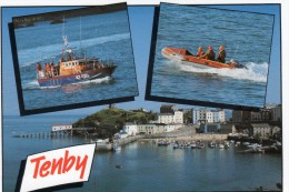 Postcard - Tenby & Relief Lifeboats & Lifeboat Station, Pembrokeshire. 8067 - Barche