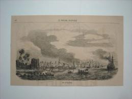 GRAVURE 1858. ARABIE SAOUDITE................ VUE DE DJEDDAH.................. .. . - Prints & Engravings