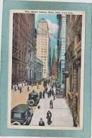 NEW  YORK  CITY  -  WALL  STREET  LOOKING  WEST  - - Wall Street