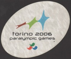 ITALY 2006 - PARALYMPIC WINTER GAMES TORINO 2006 - STICKER / AUTOCOLLANTE - Giochi Olimpici