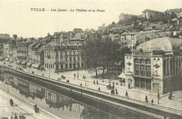 Tulle Les Quais Le Theatre Et La Poste - Tulle
