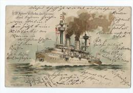 S.M. Kaiser Wilhelm Der Grosse - Carte En Relief - Guerre