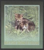 C* (2005) Yv. Bf. 199  /  Cats - Gatos - Chats - Katzen - Gatos Domésticos