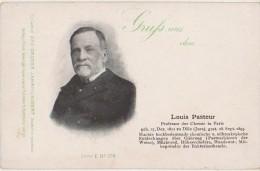 CPA SANTE Louis PASTEUR Né à Dôle Jura Gruss Aus Carte Allemande 1904 - Santé
