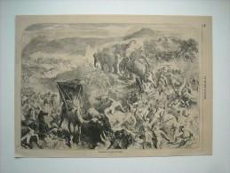GRAVURE 1858. EPISODE DE LA GUERRE EN INDE............ - Stiche & Gravuren