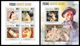 GUINEA BISSAU 2013 - Pierre-Auguste Renoir, Nudes - YT 5040-3 + BF912; CV = 37 € - Naakt
