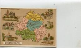 PETITE CARTE DU DEPARTEMENT DE LA DORDOGNE - France