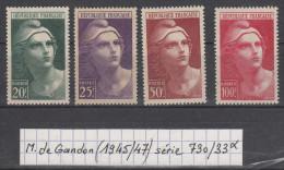 Marianne De Gandon (1945-47) Série Y/T 730/33 Neufs * à 15% De La Cote - 1945-54 Marianna Di Gandon