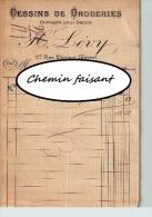 Document Du 07/08/1911 LEVY Dessins De Broderies Ouvrages Pour Dames - 75 Paris - Textile & Clothing