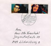 Deutschland / Germany, FDC 1988 (Michel 1360 / 1363), Buddy Holly, John Lennon (HOV-1426) - Musik