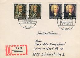 Deutschland/Germany, FDC 1985 (Michel 1248/1249),  G.F.Händel, J.S.Bach, Komponist/composer, Europa/Europe  (HOV-1433) - Musik