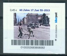 Biber Post 60 Jahre Volksaufstand 17. Juni 1953 0,45 €  € Gezähnt, Langer UPOC Neues Logo A570 - Privados & Locales