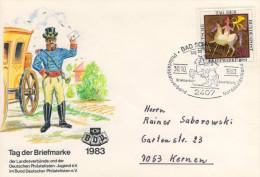 Deutschland/Germany, FDC 1983 (Michel 1192), Postilion, Tag Der Briefmarke/Stamp Day  (HOV-1437) - Musik