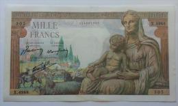 FRANCIA 1000 FRANCHI 29-04-1943 - 1 000 F 1942-1943 ''Déesse Déméter''