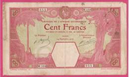 AFRIQUE OCCIDENTALE FRANCAISE.DAKAR .100 FRANCS 1926 , Sérié W.168 - Senegal