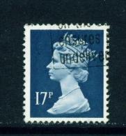GREAT BRITAIN  -  1971 To 1996  Queen Elizabeth II Machin Definitive  17p  Used As Scan - 1952-.... (Elisabetta II)