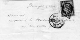 Lettre Du 08/11/1849  Grille / N°3 Paris L Pothion 1502 TB - 1849-1850 Cérès