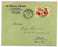 LETTRE DE COLMAR POUR COLMAR  /  1945 - 1921-1960: Modern Tijdperk
