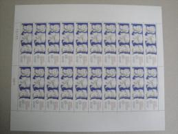 1988 Hermés  Yv 2548  Maury 2551 -  Feuille Complète Non Pliée 20 Timbres à Saisir ! Prix  Faciale - Feuilles Complètes