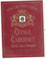 --VIN DE PAYS D OC--CEPAGE CABERNET--auguste PALOC-NEGOCIANT-ELEVEUR A F.34110-- - Etiquettes