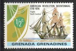 Grenada Grenadines 1976 - Rivoluzione Americana, American Revolution Fregata Frigate Nave Ship MNH ** - Grenada (1974-...)