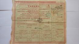 2838  -- PANAMA . EMPRUNT DE 720.000.000 De Frs  TITRE PROVISOIRE AU PORTEUR - Actions & Titres