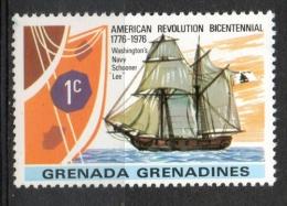 Grenada Grenadines 1976 - Rivoluzione Americana, American Revolution Veliero Scuna Shooner Nave Ship MNH ** - Grenada (1974-...)