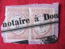 3-067 Fiscal Fiscaux 5c Timbre Dimension Affiche Notaire Doullens Imprimerie XIXe Papier Timbré - Steuermarken