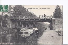 1 Cpa. Aulnay-sous-Bois. Pont De L'Union. Péniche - Aulnay Sous Bois