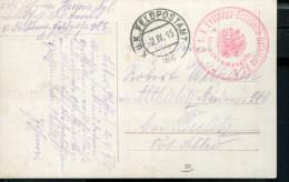AUSTRIA WWI FELDPOST 186.POSTCARD KUK FESTUNGS-ARTILLERIE BATAILLON NR.5 - Cartas