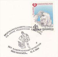 1984 Austria EVENT COVER Firefighting RANKWEIL FIREFIGHERS 115th ANNIV Firemen Stamps - Firemen
