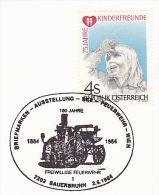 1984 Austria EVENT COVER Firefighting SAUERBRUNN WIEN FIREFIGHERS 100th ANNIV Firemen Stamps - Firemen