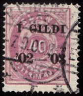1902. I GILDI. 40 Aur Lilac. Perf. 14x13½. Black Overprint. Variety On AFA 15y. (Michel: 32A) - JF156333 - Neufs