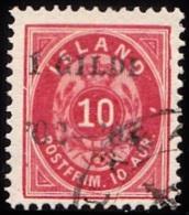 1902. I GILDI. 10 Aur Red. Perf. 12 3/4. Black Overprint. Variety On AFA 8x. (Michel: 28B) - JF156332 - Neufs