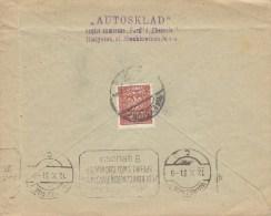 "Poland ""AUTOSKLAD"" Ford & Chevrolet BIALYSTOK 1931 Cover Brief To WARSZAWA (2 Scans) - 1919-1939 République"