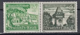 Deutsches Reich - Zusammendrück W138 ** - W136 ** - Se-Tenant