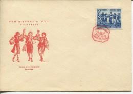 Romania - 90th Anniversary Of The Union Of Principalities, 1949 - FDC