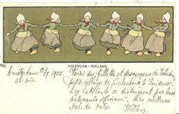 Volendam Holland    Tanzende Mädchen In Kostum - Sin Clasificación