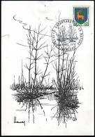 B-025M- Cachet De Niort Journée Sauvegarde De La Nature 5-6 Dec. 1970 Sur Timbre N° 1351A Et 1351B. - Marcophilie (Lettres)
