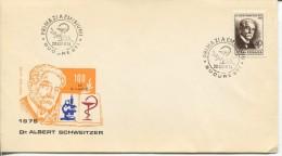 Romania - Dr. A. Schweitzer, 1974 - FDC