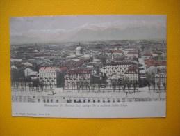 Cpa  TORINO  -  TURIN  -  Panorama Di Torino Dal Lungo  Po E Veduta Delle Alpi  - ITALIA - Andere Monumenten & Gebouwen