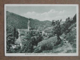 BORLASCA-ISOLA DEL CANTONE -CHIESA PARROCCHIALE 1954  -BELLA - Verona