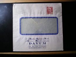 Enveloppe Cie De Dépôts,agences De Vente D'usine Métallurgique,Davum,229,rue Jules Delcenserie,Maecq-en-Baroeul (Nord) - 1945-54 Marianne Of Gandon