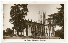 Inde India Calcutta Cathedrale (+400  CPA Sur L'Indochine En Cours) TB - Inde
