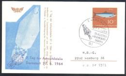 "Germany Deutschland 1964 Card: Space Weltraum:"" Tag Der Astrophilatelie; Darmstadt; Gemini; US Space Programme - FDC & Commemoratives"