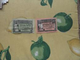 NOTGELD 50 Heller E 20 Heller  Austria Osterreich N.2 Pezzi Drofendorf Thaya - Banconote