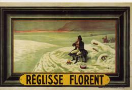 Réglisse Florent - ( Napoléon )  CPM Reproduction D'affiche  De Auzolle -   TBE Comme Neuve - Advertising
