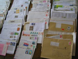 LOT DE 500 LETTRES MODERNES DE FRANCE - Marcophilie (Lettres)