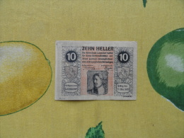 NOTGELD 10 Heller  Austria Osterreich Zehn Heller 1920 - Bankbiljetten